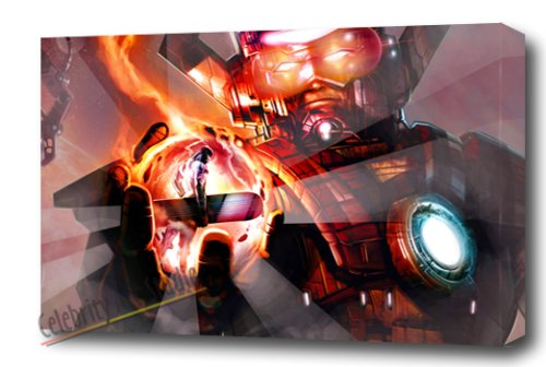 GALACTUS AND SILVER GALLERY WRAP STYLE ARTWORK 30X20X1.5