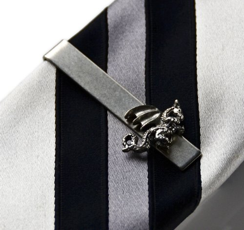 Dragon Tie Clip, Handmade Gift, Valentine's Gift For Men, Gift Box Included