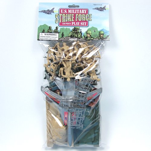 Buy Low Price Toysmith U.S. Military Tank Force: Tan vs Green Plastic Army Men Tank Battle Playset  2 inch 1/35th Figures (B0014HH4NY)
