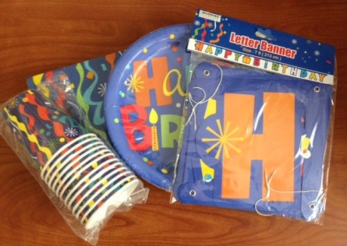 "Confetti ""Happy Birthday"" Party Pack"