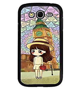 Fuson Premium Red Cheeks Girl Metal Printed with Hard Plastic Back Case Cover for Samsung Galaxy Grand 2 G7102 G7106