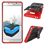 Note 7 Case, Galaxy Note 7 Case, MCUK Heavy Duty Rugged Dual Layer - Soft/Hard Shell 2 in 1 Tough Protective Cover Case with Kickstand for Samsung Galaxy Note 7 (Red)