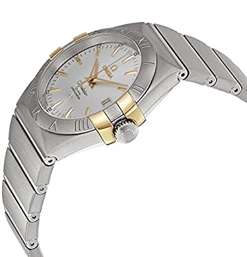 Omega Constellation Silver Dial Steel and Yellow Gold Ladies Watch 12320352002004
