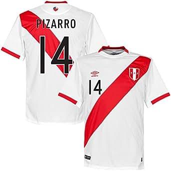 Amazon.com: Peru Home Pizarro Jersey 2015 / 2016 (Fan Style Printing