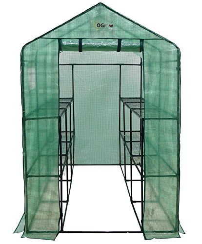 Ogrow Extra Large Heavy Duty WALK-IN 2 Tier 12 Shelf Portable Lawn and Garden Greenhouse (Extra Large Greenhouse compare prices)
