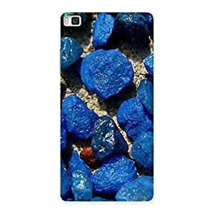 Delighted Premier Blue Rocks Multicolor Back Case Cover for Huawei P8