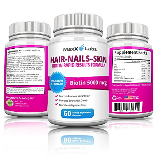 Hair Skin and Nails Vitamins with 3000mcg Biotin for Hair Growth. Best ...