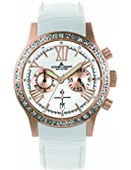 Women's Porto Chronograph 1-1527D White Leather