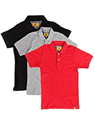 Campus Sutra Men Combo Polo Neck Tshirt Pack Of 3 - B00QSD9N6K