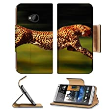 buy Animals Cheetahs Feline Running Fast Htc One M7 Flip Cover Case With Card Holder Customized Made To Order Support Ready Premium Deluxe Pu Leather 5 11/16 Inch (145Mm) X 2 15/16 Inch (75Mm) X 9/16 Inch (14Mm) Msd Htc One Professional Cases Accessories Open