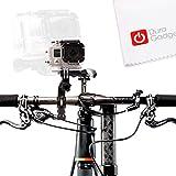 DURAGADGET High Quality Bike Handlebar Mount For GoPro HD Hero 1, Hero 2, Hero 3, Hero 3+ Plus, Naked/Helmet/LCD BacPak (Black, White, Silver, Surf, Outdoor & Sport Editions)