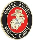 US Flag Store Marine Round Lapel Pin