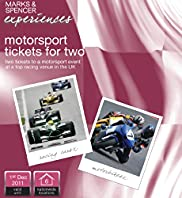 M and S Gift Experience Motor Sports Tickets for Two