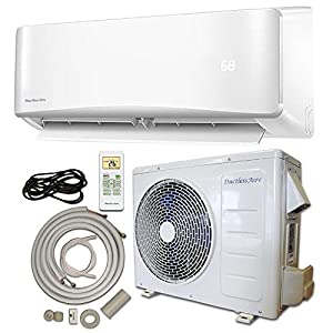 Energy Star 12,000 BTU 1 Ton Ductless Mini Split Air Conditioner and Heat Pump Variable Speed Inverter - 220V/60Hz