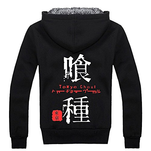 Tokyo Ghoul Anime Costume Hoodie Jacket Coat, Asian Size, Three Colors