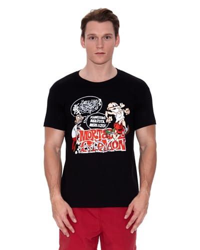 Mortadelo Y Filemón Camiseta Negro