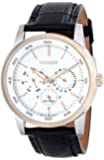 Citizen Men's BU2016-00A Two-Tone Watch with Black Leather Band