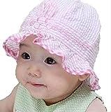 On Dolce 赤ちゃん の 日よけ 帽子 女の子 男の子 紫外線 防止 お出かけ用 ベビー ハット 新生児 ボーダー柄 BH004 ランキングお取り寄せ