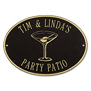Personalized Martini Plaque
