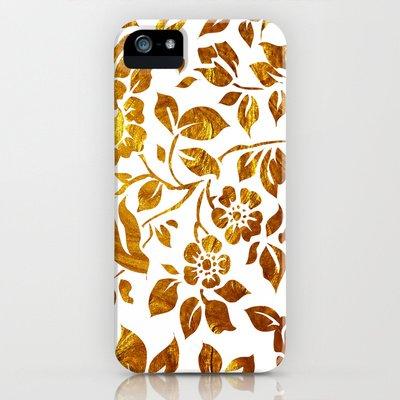 society6(ソサエティシックス) iPhone5/5sケースゴールドフラワーズ Gold flowers 並行輸入品
