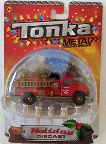 Tonka Metal Body Holiday Diecast Fire Department Truck