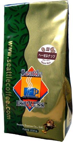 SEATTLE ESPRESS FLAVOR COFFEE シアトルエスプレス フレーバーコーヒー ヘーゼルナッツ 200g(豆)