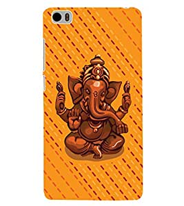 ColourCrust Xiaomi Mi5 Mobile Phone Back Cover With Lord Ganesha Ganpati Devotional - Durable Matte Finish Hard Plastic Slim Case