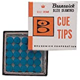 5 x Brunswick Blue Diamond Snooker Pool Cue Replacement Tips 12mm