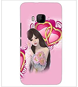 PrintDhaba Love Girl D-4131 Back Case Cover for HTC ONE M9S (Multi-Coloured)
