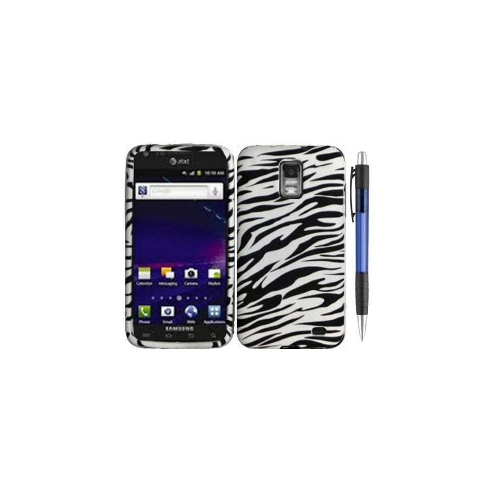 Black White Zebra Design Protector TPU Cover Case for Samsung Galaxy S II Skyrocket / SGH i727 Android Smartphone (AT&T) + Bonus 1 of New Rubber Grip Translucent Ball Point Pen