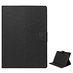 Mercury Textured Wallet Diary Case for Apple iPad 2/3/4 (All Black)
