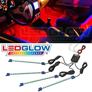 4pc. Red LED Interior Underdash Lighting Kit from LEDGLOW