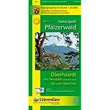 Naturpark Pfälzerwald /Oberhaardt von Neustadt an der Weinstraße bis zum Queichtal: Naturparkkarte 1:25 000 mit Wander- und Radwanderwegen