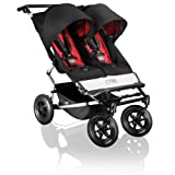 Mountain Buggy Duet Twin Double Baby Pushchair in Chilli Red