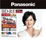 Panasonic くり返し録画用2倍速ブルーレイディスク 25GB×10枚+50GB×1枚書換型11枚パック LM-BE25W11G