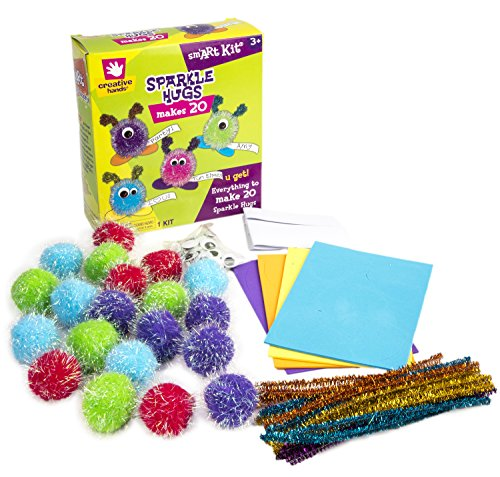Creative Hands by Fibre-Craft Sparkle Hugs Arts and Crafts Kit. For Parties, Rainy Days, Group Projects, The Classroom, or Just Having Fun At Home. Age 3 and Up