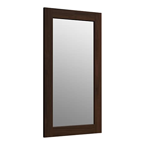 KOHLER K-99666-1WD Poplin 35.5-Inch x 20.5-Inch Rectangular Framed Mirror,  Ramie Walnut
