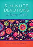 img - for 3-Minute Devotions for Teen Girls: 180 Encouraging Readings book / textbook / text book