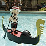 Musical Lighted Singing Gondolier: Luciano Pool-varotti Italian Pool PlayToy