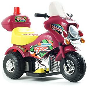 EZ Riders Harley Style Battery Operated Motorcycle Maroon/Red