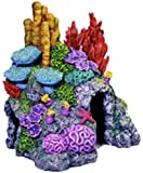 Exotic Environments Red Sea Hide-Away Aquarium Ornament, Ex Small, 6-Inch by 5-Inch by 6-1/2-Inch