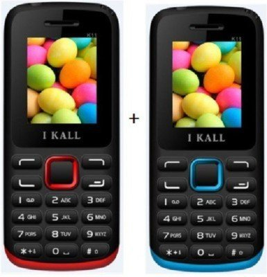 I KALL (K11RED+K11BLUE), Dual Sim mobile Combo