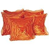 Hargunz Leaf Design Cushion Covers Set Of 5-Orange(cus-square-org-rose)