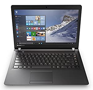 Lenovo Ideapad 100 80MH0081IN 14-inch Laptop (Pentium N3540/4GB/500GB/Windows 10 Home/Integrated Graphics), Black Texture