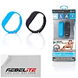 Xfit Wireless Bluetooth Activity / Fitness Tracker With Sleep Monitor - Includes 2 Colored Bands in Total Works for Iphone 6, 6 Plus, 5s, 5c, 5, 4s, Samsung Galaxy S5, S4, S3, Note 2, Tab 4, Ipad 3, Ipad Air, Mini, Ipad, Ipad Retina, Ipad Touch Gen 5 or newer - (Black/Blue)