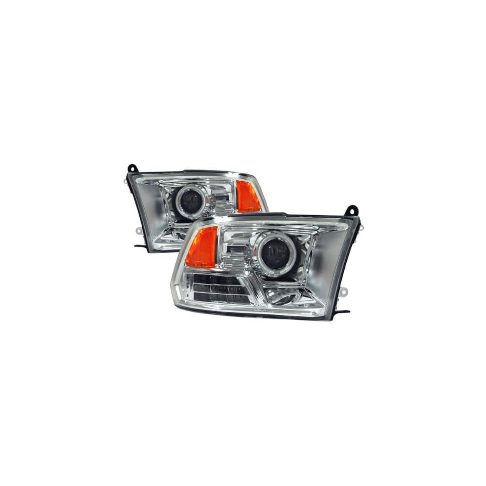 Dodge Ram Chrome CCFL LED Halo Projector Headlights /w Amber