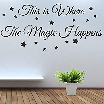 This is Where the Magic Happens decal Quote lettering sayings kitchen sport Bedroom home decor