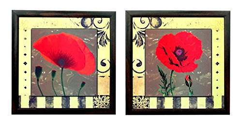 2 Piece Set Of Framed Wall Hanging Art - B00ZPC5DSW