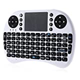 ODGear Mini KP-810-21 2.4GHz Wireless Handheld 92 Keys Keyboard Touchpad Mouse ipazzport Portable(white)