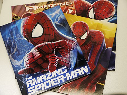 Set Of 4 - The Amazing Spider-Man 2 - Portfolio Folders School Supplies - 3 Hole Punched 2 Pocket Folder front-997148